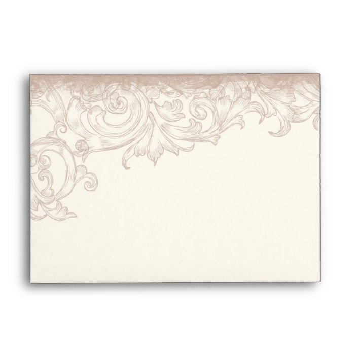 Antique Etched Swirl - Cream  -  Wedding Envelopes