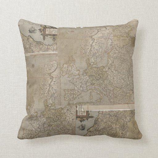 Antique Europe Maps Pillow