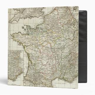 Antique European Map 3 Ring Binder
