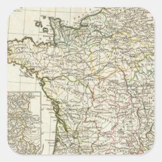 Antique European Map Square Sticker