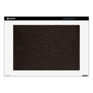 Antique Exotic Leather Deep Brown Laptop Skins