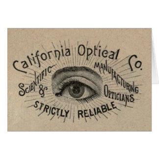 Antique eye advertising art card