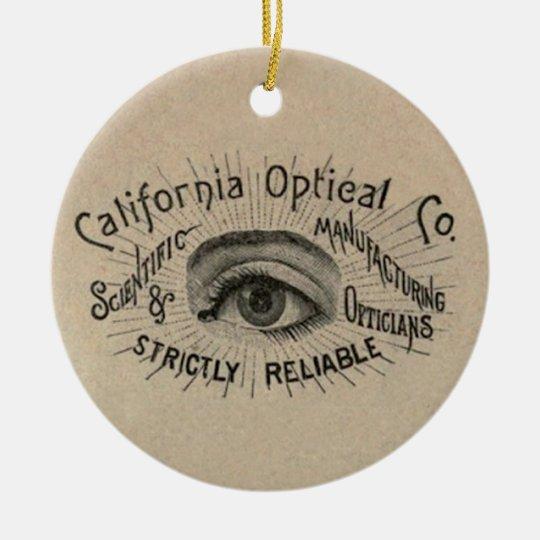 Antique eye advertising art ceramic ornament