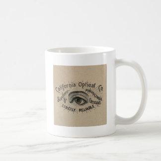 Antique eye advertising art coffee mug
