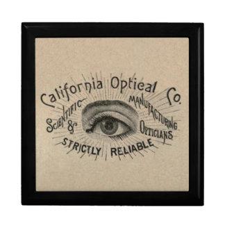 Antique eye advertising art gift box