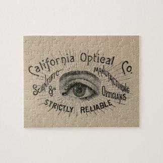 Antique eye advertising art jigsaw puzzle