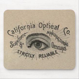 Antique eye advertising art mouse pad