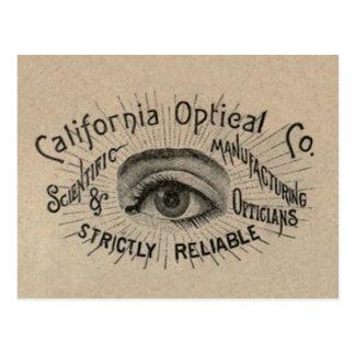 Antique eye advertising art postcard