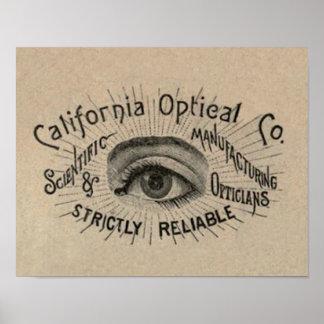 Antique eye advertising art posters