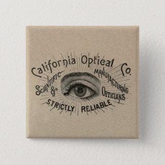 Antique eye advertising pinback button