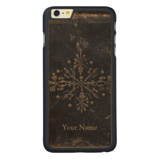 Antique Faded Gold Leaf iPhone 6 Plus Wood Case