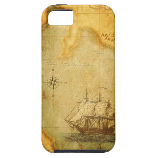 Antique Faded Map & Ship iPhone SE/5/5s Case