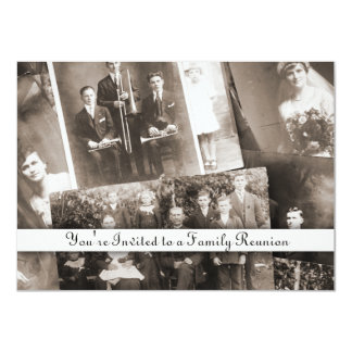 "Antique Family Reunion Generic Photos Invitations 4.5"" X 6.25"" Invitation Card"