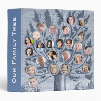 Antique Family Tree - Add up to 48 Photos 1.5 inch Binder