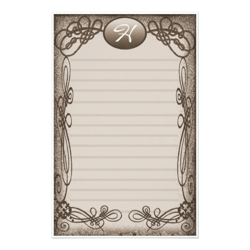 antique fancy lined stationery