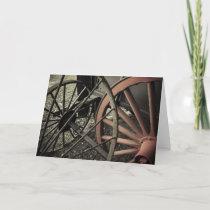 Antique Farm Cart Wheels Card