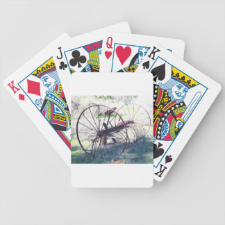 Antique Farm Equipment Bicycle Playing Cards