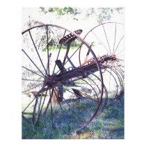 Antique Farm Equipment Letterhead