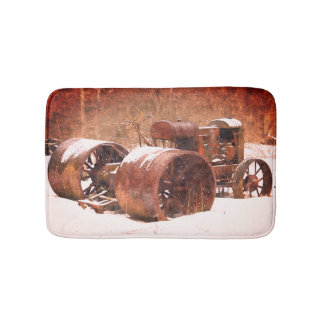 Antique Farm Tractor Bath Mat