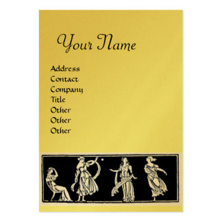 ANTIQUE FASHION  MONOGRAM ,gold metallic, yellow Large Business Cards (Pack Of 100)