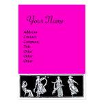 ANTIQUE FASHION  MONOGRAM ,pink Business Card Templates