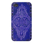 Antique faux Blue Leather Book Cover iPhone 4 Cases