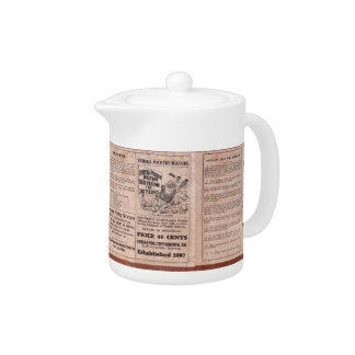 Antique Feed Canister Teapot
