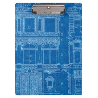 "Antique ""Feeling Blue"" Architect Plans Clipboard"