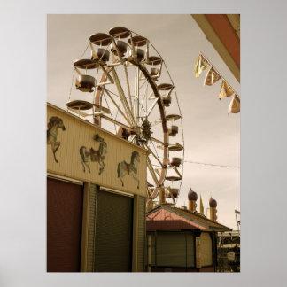 Antique Ferris Wheel Poster