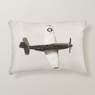 Antique Fighter Airplane Accent Pillow