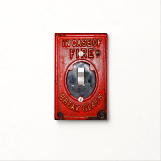Antique Fire Alarm Switch plate Cover, Hot Gift! Light Switch Plate