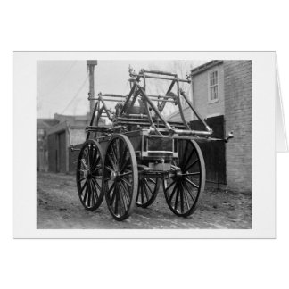 Antique Fire Engine, 1920s Greeting Card