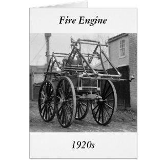 Antique Fire Engine, 1920s Card