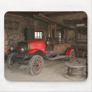 Antique fire-engine mouse pad