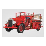 Antique Fire Engine Poster