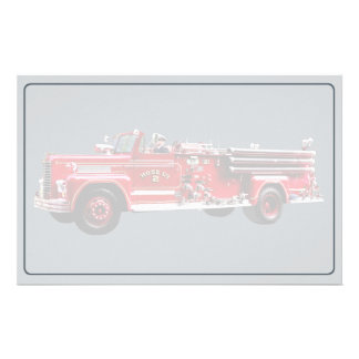 Antique Fire Engine Stationery