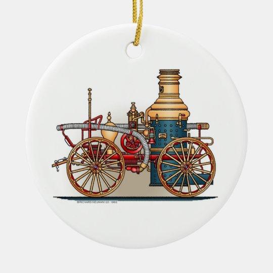 Antique Fire Truck Steam Pumper Ornament