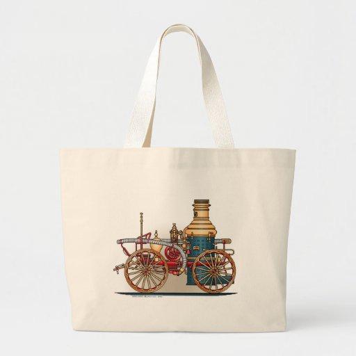 Antique Fire Truck Steam Pumper Tote Bag