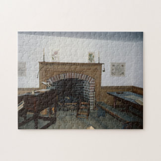 Antique Fireplace Colonial Furnishings Jigsaw Puzzle