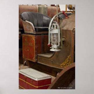 Antique Firetruck Poster