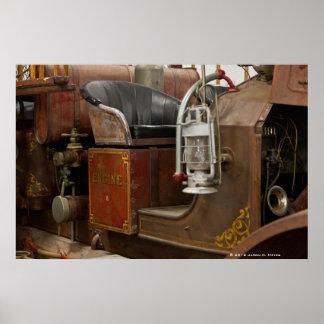 Antique Firetruck Print