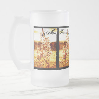 Antique Fireweed; Yukon Territory, Canada Frosted Glass Beer Mug