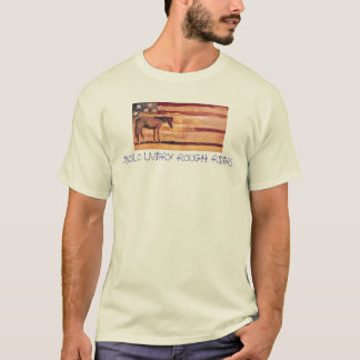 ANTIQUE FLAG WITH ROPE LETTERS T-Shirt