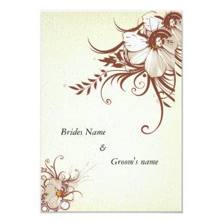 "Antique floral 3.5"" x 5"" wedding invitation card"