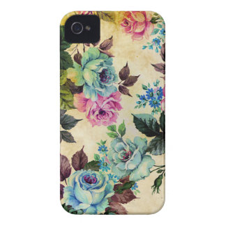 Antique Floral Blackberry Curve Case iPhone 4 Case-Mate Case