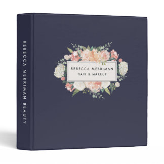 Antique Floral Blush & Navy Binder