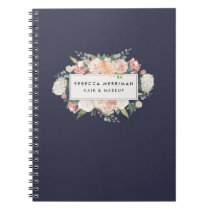 Antique Floral Blush & Navy Notebook
