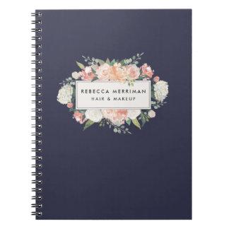Antique Floral Blush & Navy Notebook