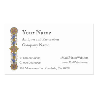 Antique Floral Border Business Card Template