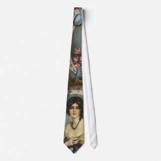 Antique Floral Butterfly Old fashion Paris Lady Neck Tie